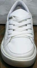 Женские спортивные туфли кроссовки городской стиль Maria Sonet 274k All White.