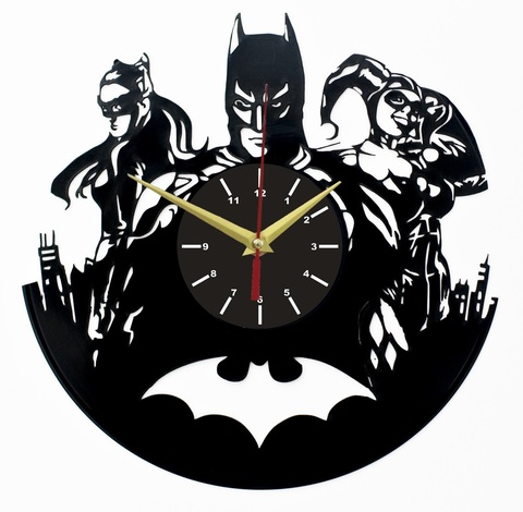 Бэтмен Часы из Пластинки — Женщина-Кошка и Харли Квинн