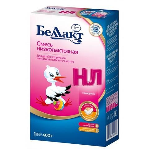 Беллакт. Смесь сухая молочная низколактозная 0-12 мес., 400 г