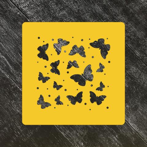 Трафарет-фон №15 Бабочки и точки