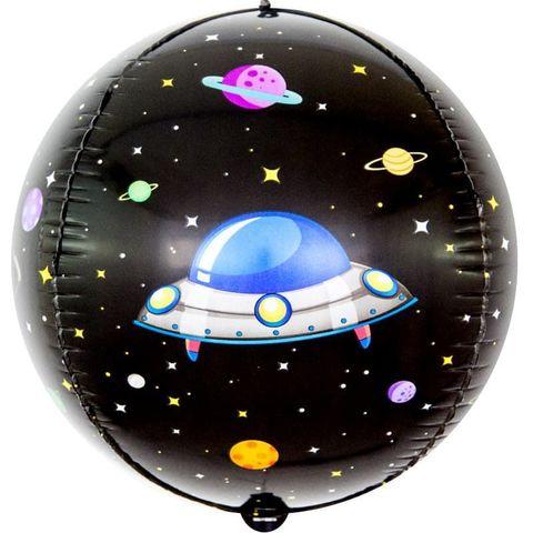 Воздушный шар фигура 3D сфера, Космические приключения, 61 см