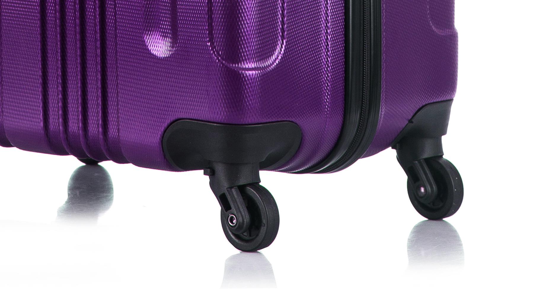 Чемодан со съемными колесами L'case Bangkok-26 Фиолетовый (L)