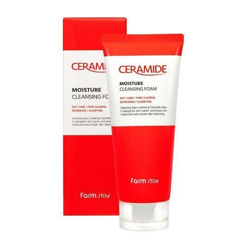 FarmStay Ceramide Пенка увлажняющая очищающая с керамидами FarmStay Ceramide Moisture Cleansing Foam, 180ml
