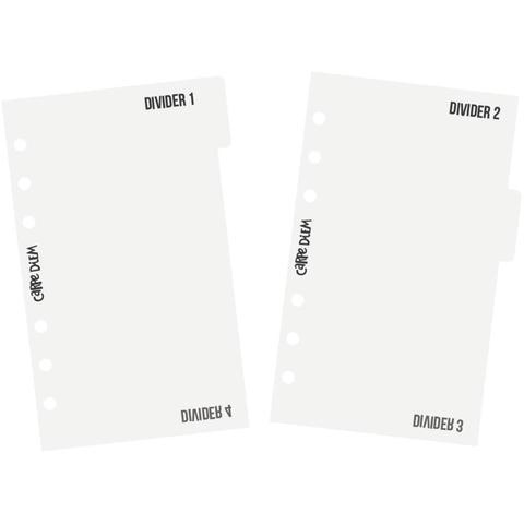 Пластиковые разделители с табами -Personal  PLANNER-Carpe Diem  - Divider Templates-3 шт.