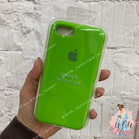 Чехол iPhone 7/8 Silicone Case /lime green/ салатовый 1:1