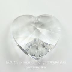 6228 Подвеска Сваровски Сердечко Crystal (40 мм)