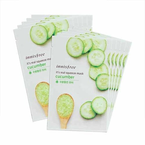 Innisfree Маска для лица с соком огурца It's Real Squeeze Mask Cucumber