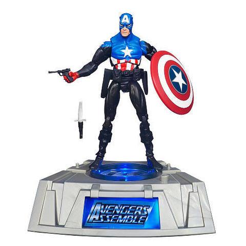 Marvel Collectors Base Light-up Figure - Captain America