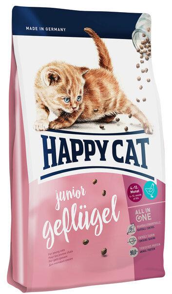 купить Happy Cat Supreme Junior Geflugel сухой корм для котят с 4 до 12 месяцев с птицей