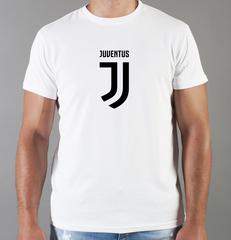 Футболка с принтом FC Juventus (ФК Ювентус) белая 002