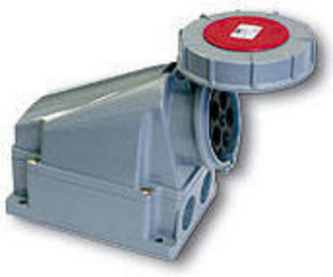 Розетка наружной установки IP67 125А 3Р+РЕ 380В TDM