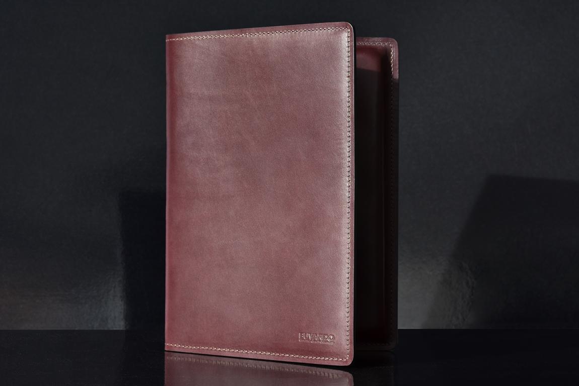 Папка для бумаг из кожи  FULL GRAIN цвет  Bologna Brown