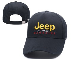 Кепка с вышитым логотипом Джип (Бейсболка Jeep Action Magazine) черная