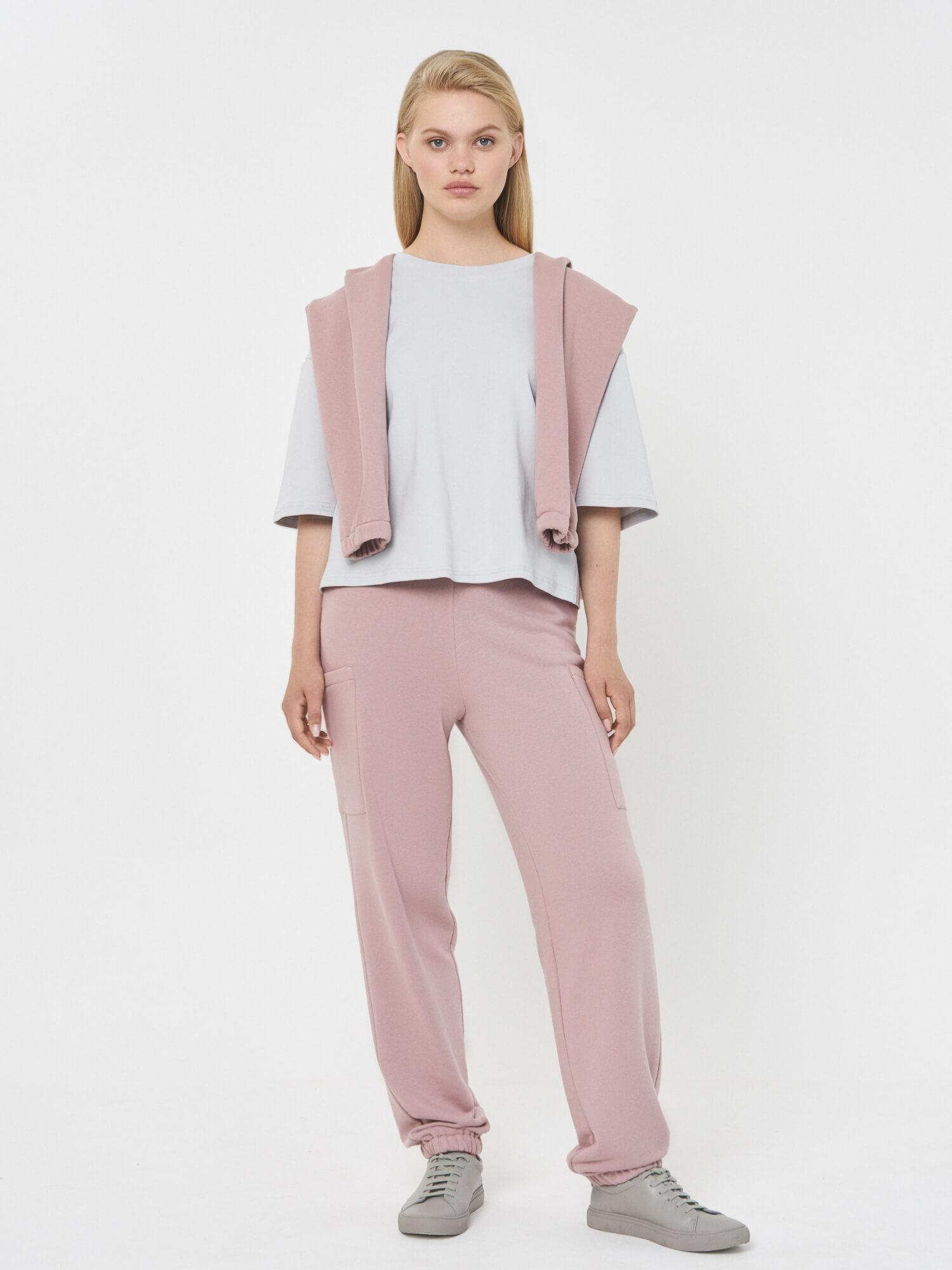 Брюки Бергамо на резинке с карманами, Розовый