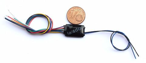 Декодер 6-pin, провода, для дополнительных устройств (LaisDCC)