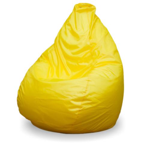 Бескаркасное кресло «Груша» L, Желтый