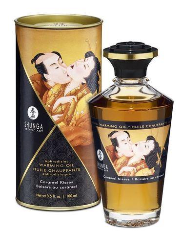 Массажное интимное масло с ароматом карамели - 100 мл.