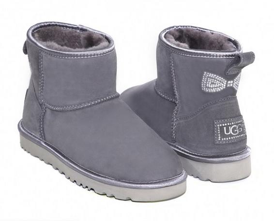 Ugg Classic Mini Crystal Bow Grey