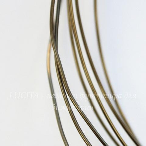 Винтажная проволока латунная 0,8 мм (оксид латуни), 50 см