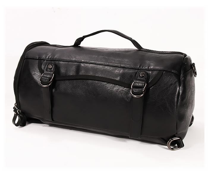 BAG427-1 Мужской рюкзак трансформер из кожи черного цвета фото 02