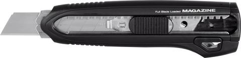 Универсальный нож с автоматическим магазином и 3 лезвиями 18 мм