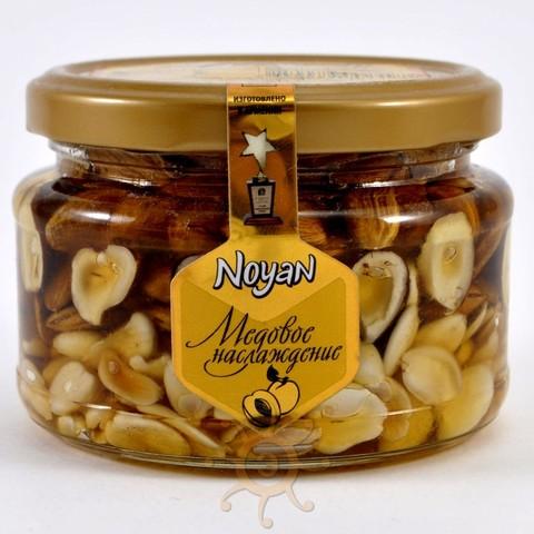 Мед с абрикосовыми косточками и лесными орехами Noyan, 320г