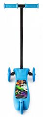 Самокат трёхколёсный (синий)