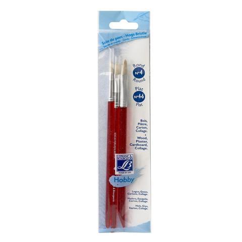Набор кистей Lefranc&Bourgeois Hobby X3 [4/4/6], щетина, короткая ручка