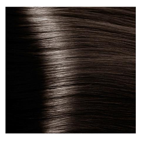 Крем краска для волос с гиалуроновой кислотой Kapous, 100 мл - HY 5.1 Светлый коричневый пепельный