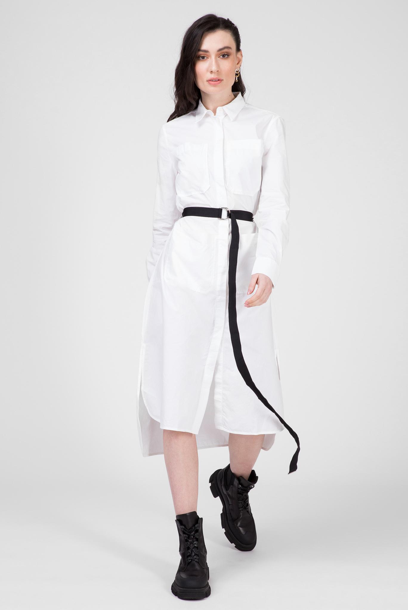 Женское белое платье-рубашка D-TOKYO Diesel
