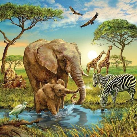 Алмазная Мозаика 40x50 Животный мир