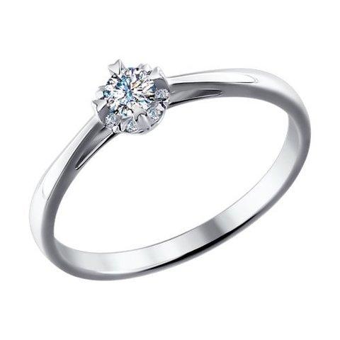 1011462 - Помолвочное кольцо из белого золота с бриллиантами