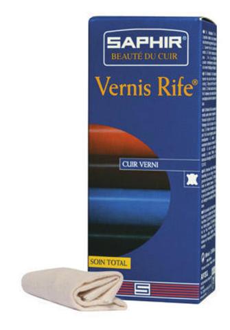 Полироль для лаковых кож Saphir VERNIS rife, 100мл. (2 цвета)