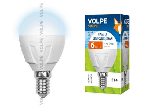 LED-G45-6W/NW/E14/FR/S Лампа светодиодная Volpe. Форма