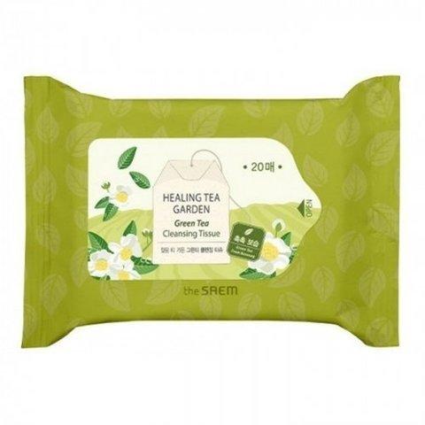 Салфетки очищающие с экстрактом белого чая THE SEAM Garden WhiteTea Cleansing Tisssue 24 шт