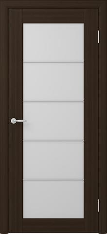 Дверь ALBERO Сан-Ремо СР-5 триплекс белый (кипарис тёмный, остекленная экошпон), фабрика Фрегат
