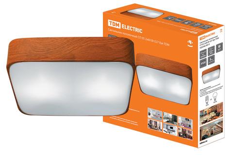 Светильник потолочный СП 05 2х60Вт E27 бук TDM
