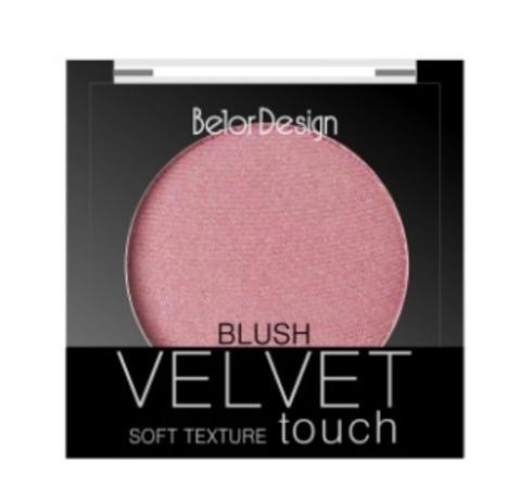 BelorDesign Румяна для лица Velvet Touch тон 104 розово-бежевый