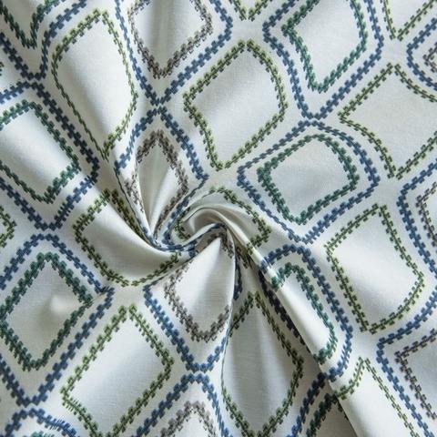 Ткань хлопок Снек голубой