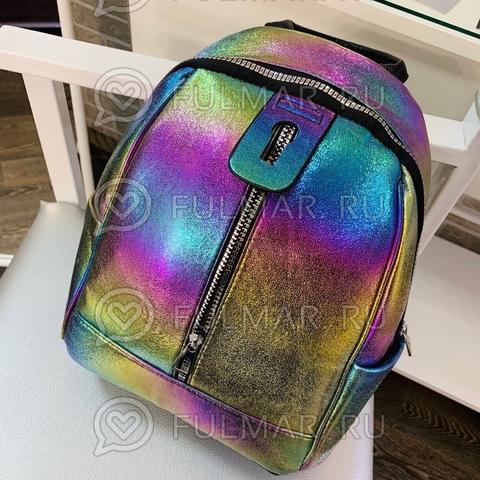 Рюкзак для девочки Голографический с переливами Радужный