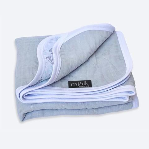 Муслиновое одеяло Mjölk Night Cloud Metallic