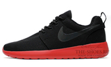 Кроссовки Мужские Nike Roshe Run Material Black Red