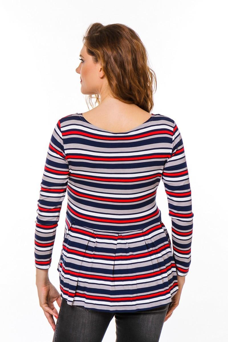 Джемпер для беременных 08753 красный-синий