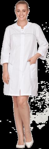 Халат медицинский Женский   белый (ткань Тиси)