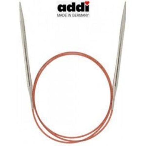 Спицы Addi круговые с удлиненным кончиком для тонкой пряжи 80 см, 5.5 мм