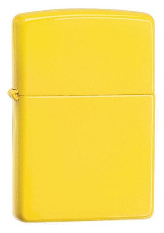 Зажигалка Zippo с покрытием Lemon, латунь/сталь, жёлтая, матовая, 36x12x56 мм123