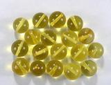 Бусина из янтаря прозрачного, лимонного, шар гладкий 10-10,5 мм
