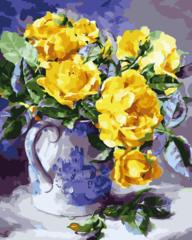 Желтые розы- раскраски по номерам