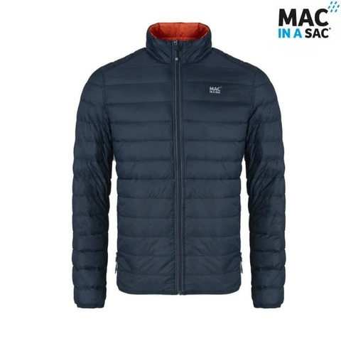 Пуховик Polar down jacket Flame/Navy  Mac in a Sac