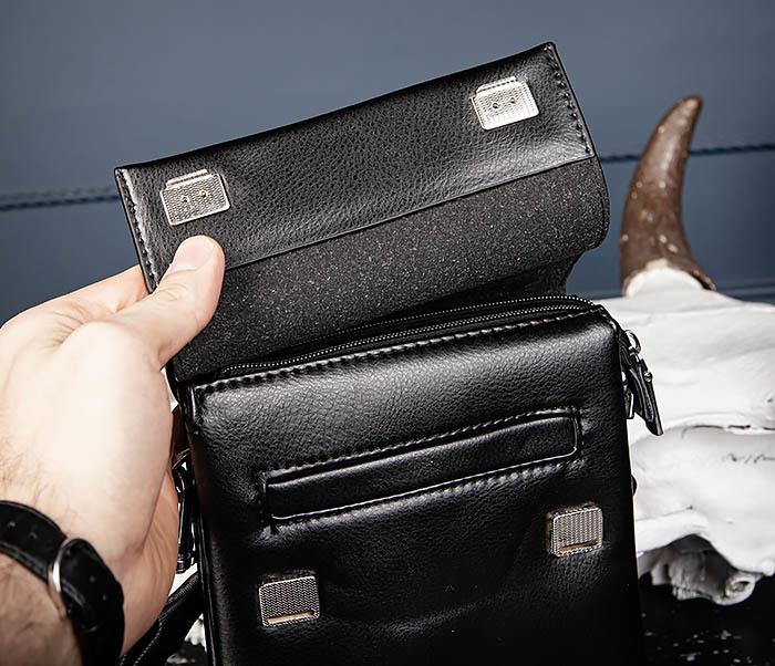 BAG560-1-2 Небольшая мужская сумка с ремнем на плечо фото 06